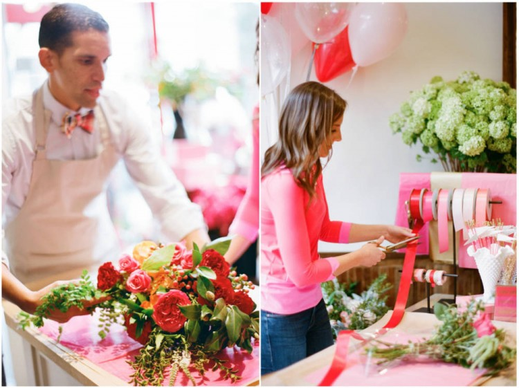 Sinclair & Moore Valentines Pop up Flower Shop 19