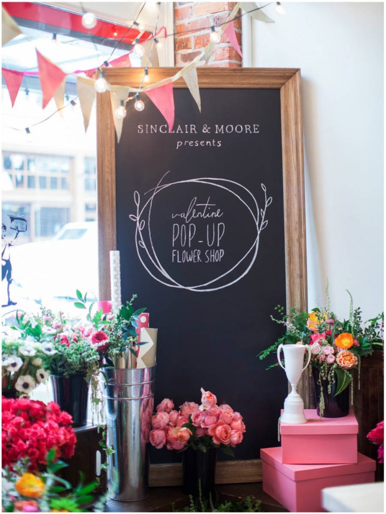 Sinclair & Moore Valentines Pop up Flower Shop 2