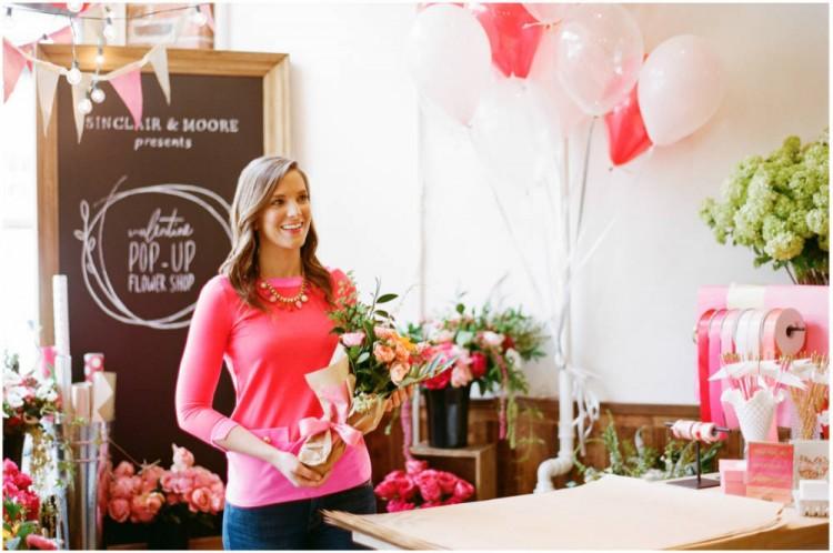Sinclair & Moore Valentines Pop up Flower Shop 21