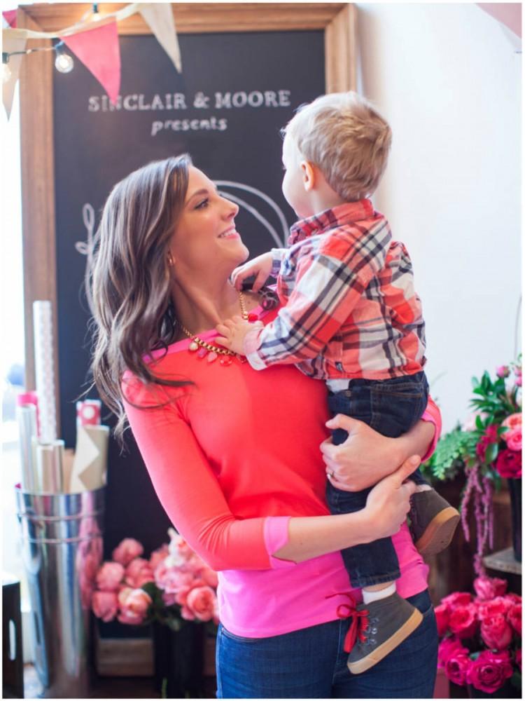 Sinclair & Moore Valentines Pop up Flower Shop 64
