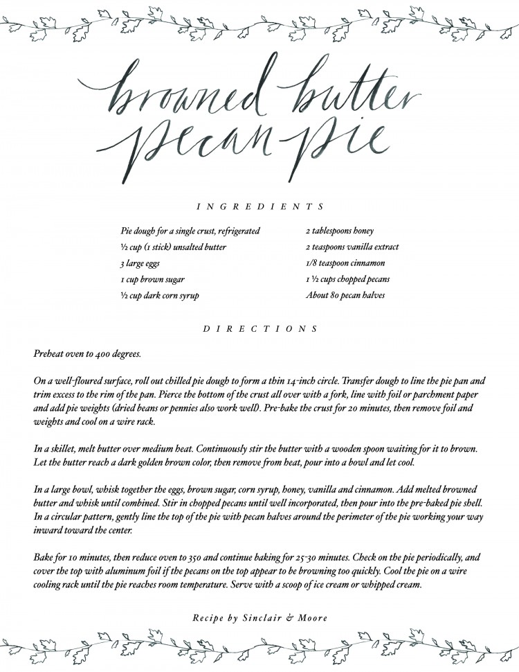 Browned-Butter Pecan Pie Recipe